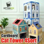 ★Cardboard Cat Tower★Third floor/Fifth floor/cat/Pet Station/House Tower/gobiz-212