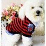Stripe Tee Baju Anjing Kucing Pet Clothing Dog Cat Clothes