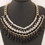 Kalung Fashion waterdrop shape decorated weave design KT6B8F6S