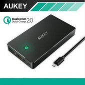 [esiafone #1 powerbank] AUKEY Power Bank 20000mAh Dual Port Qualcomm Quick Charge QC