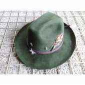 Topi Fedora Hijau Army Woll Hat with Pin Feather Import HAT0227008 5496598ee6